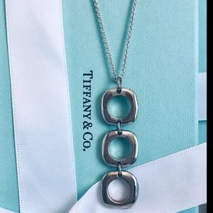 Tiffany & co triple pendant Sterling necklace